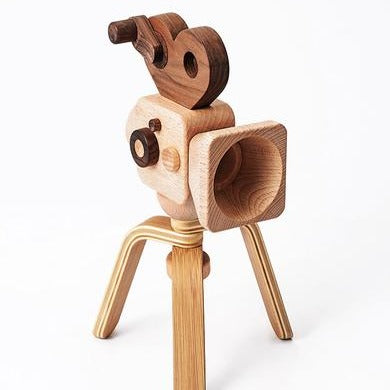 Super 16 Pro Wooden Toy Camera With Tripod