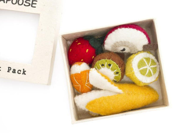 Papoose Felt 6-piece Fruit Box Set