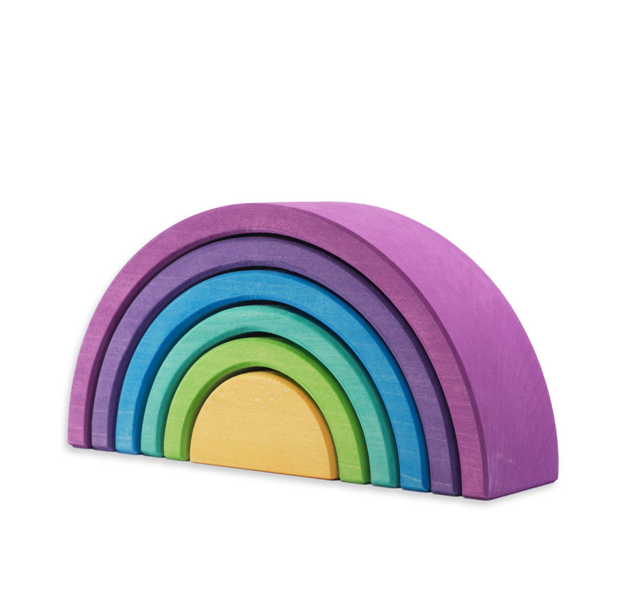 Ocamora - Purple 6 Piece Rainbow Stacker, Purpura