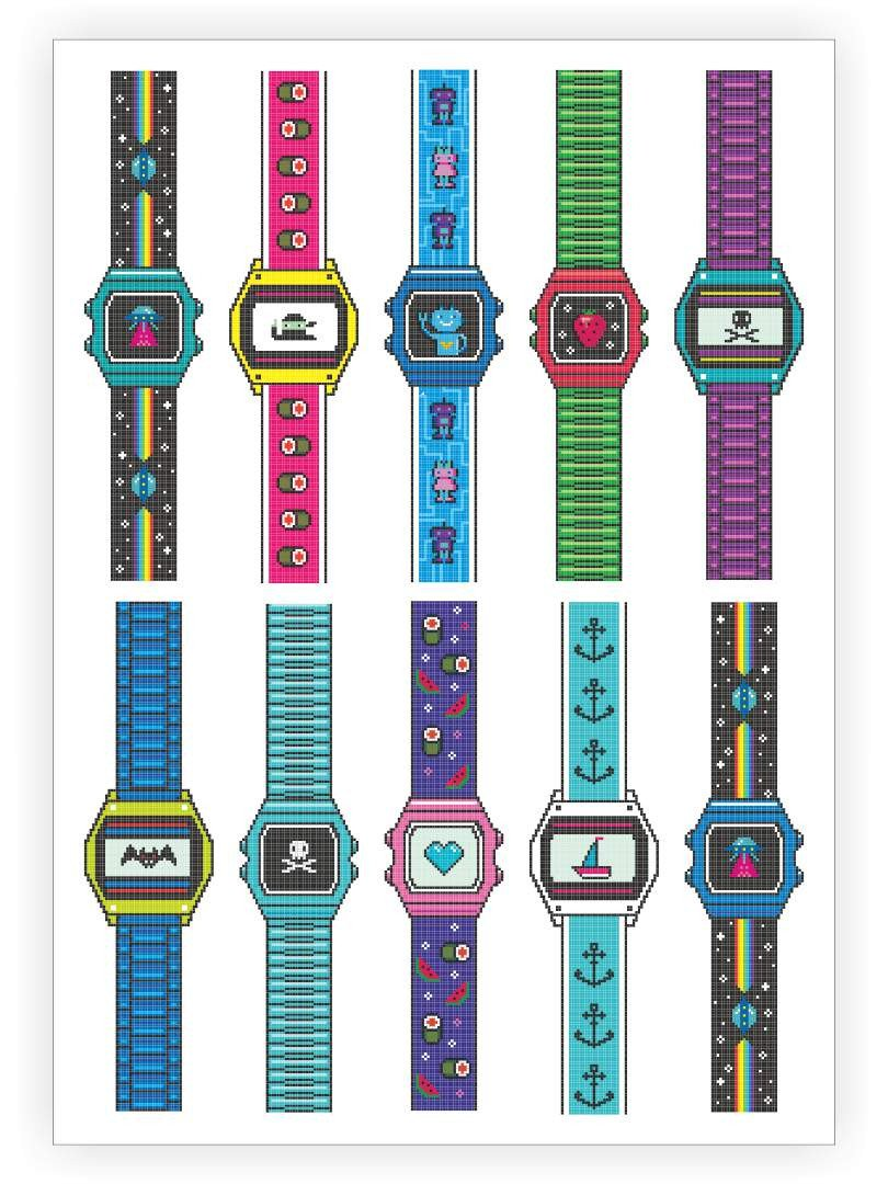 Watches Temporary Tattoo Sheet