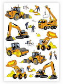 Construction Temporary Tattoos