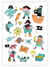Pirates Temporary Tattoos Sheet