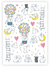 Rabbits Temporary Tattoo Sheet