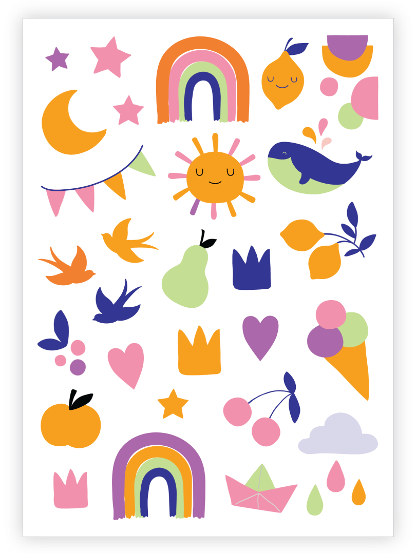 Hello Baby Temporary Tattoo Sheet