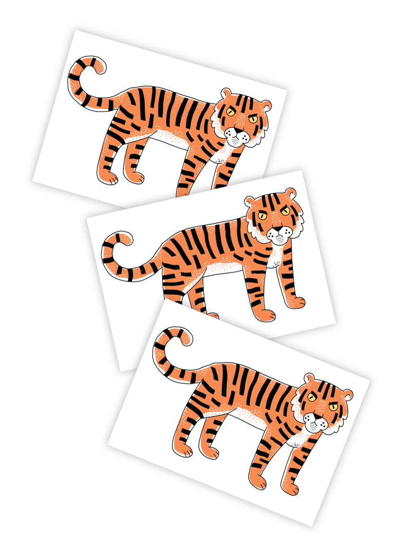 Tigris Tattoo - Set of 3