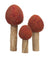 Autumn Red Felt Trees, 3pc