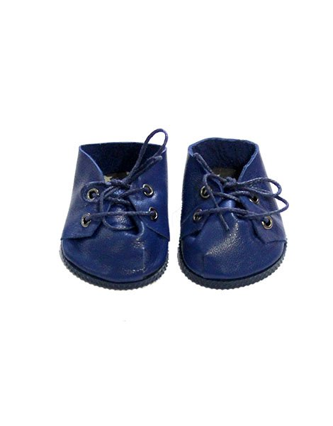 Doll Leather Shoes, Blue - Minikane