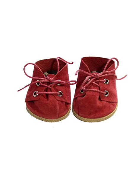 Doll Suede Shoes, Red - Minikane