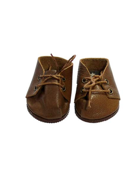 Doll Leather Shoes, Brown - Minikane