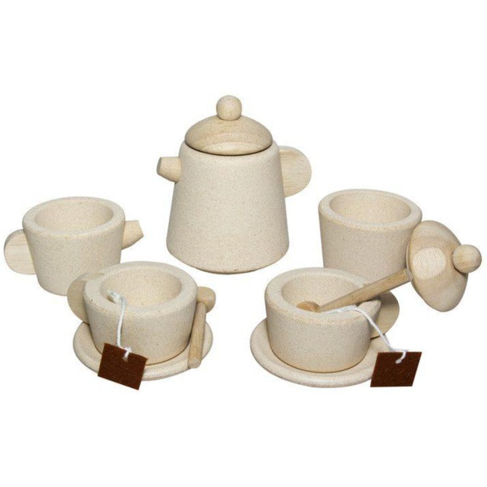 Wooden Tea Set, Natural