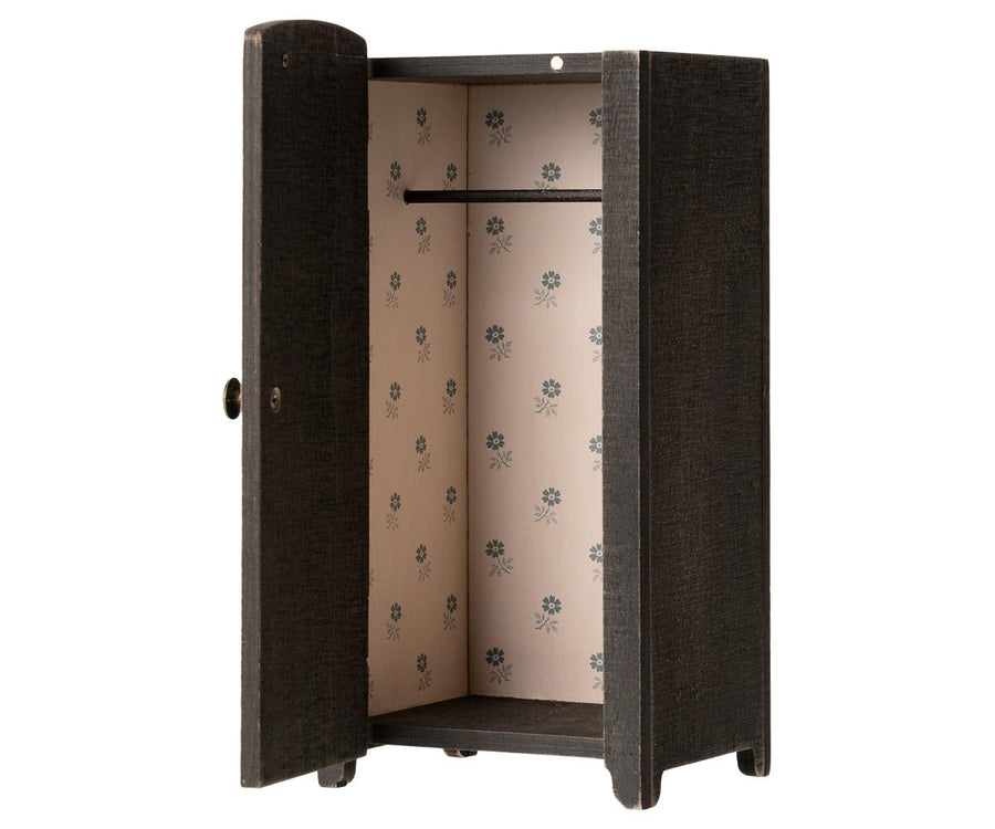 Maileg - Vintage Closet with Shelves, Anthracite