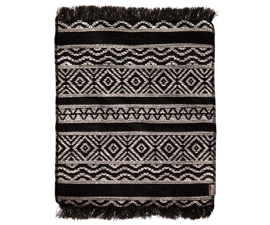 Maileg - Miniature Rug, 9.6x7.2in – BLACK