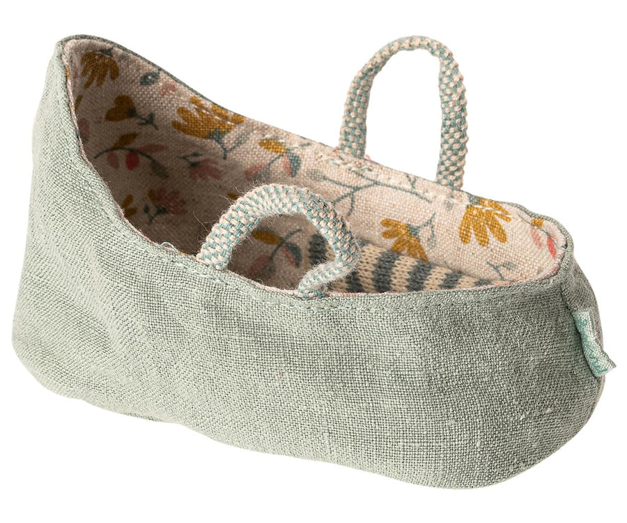 Maileg - Carry Cot, MY in Dusty Green