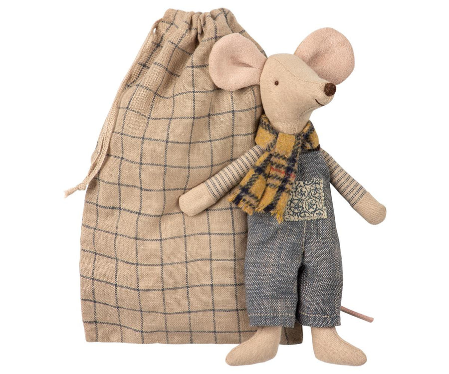 Maileg -  Winter Mouse, Father in Bag