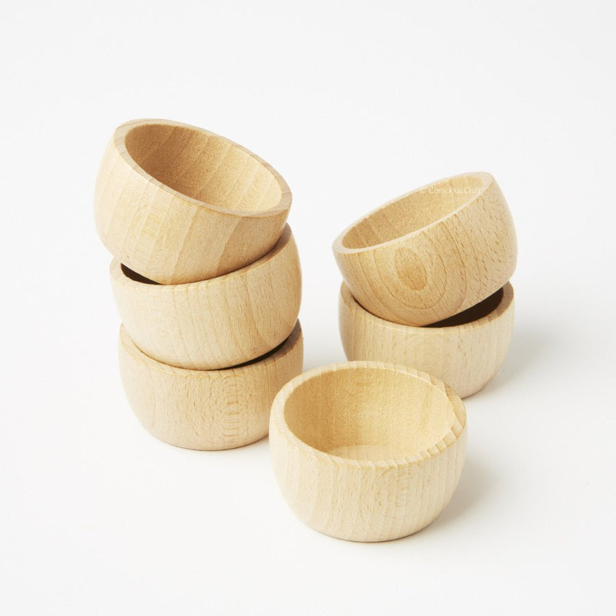 Grapat - Set of 6 Natural Bowls