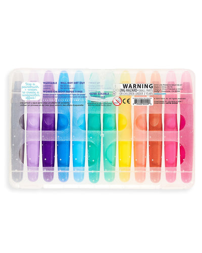 Rainbow Sparkle Gel Crayons - Set of 12