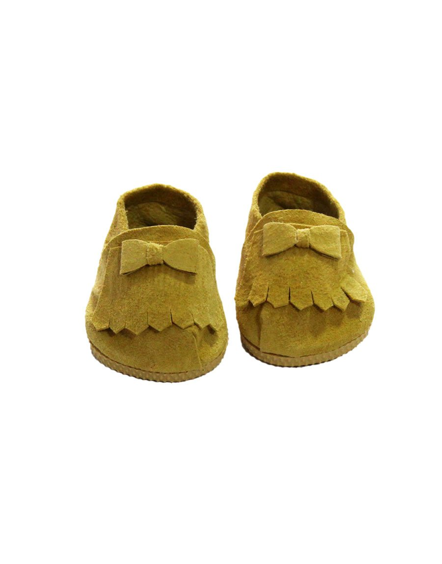 Doll Suede Loafers, Mustard - Minikane