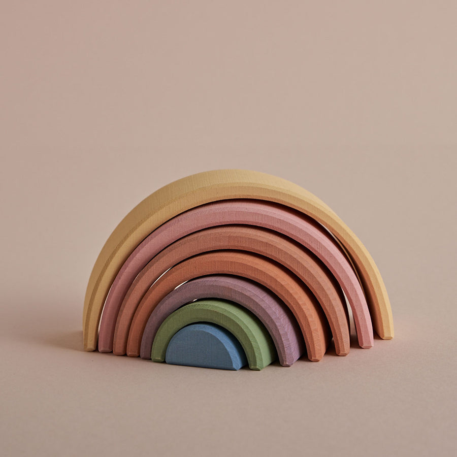 Wooden Small Arch Stacker, Pastel Earth - Raduga Grez