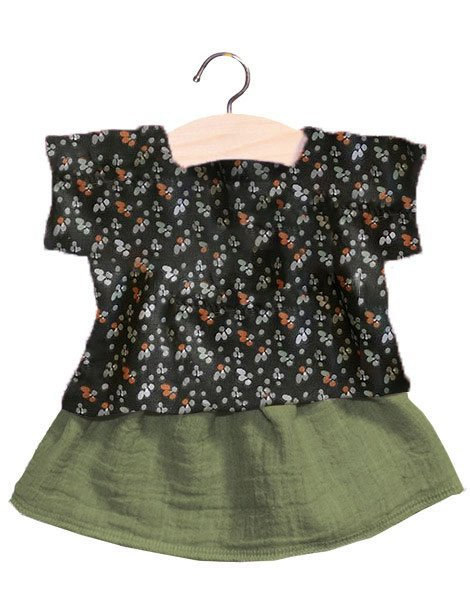 Ensemble Pauline Top with Olive Skirt - Minikane