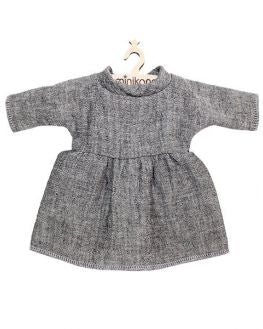 Cotton Dress, Double Heather Gray - Minikane