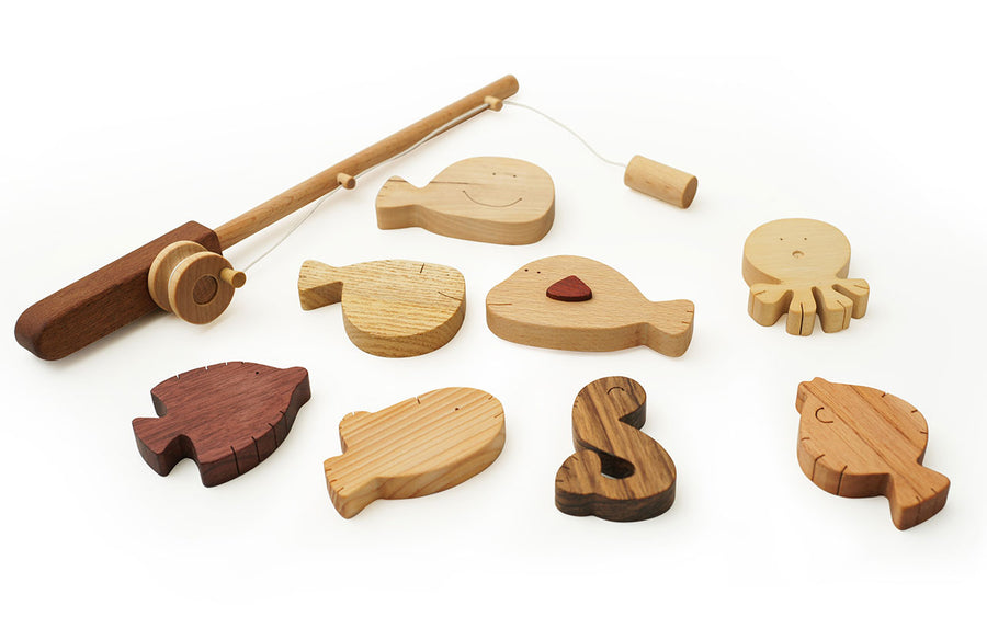 Wooden Fishing Play Set & Game