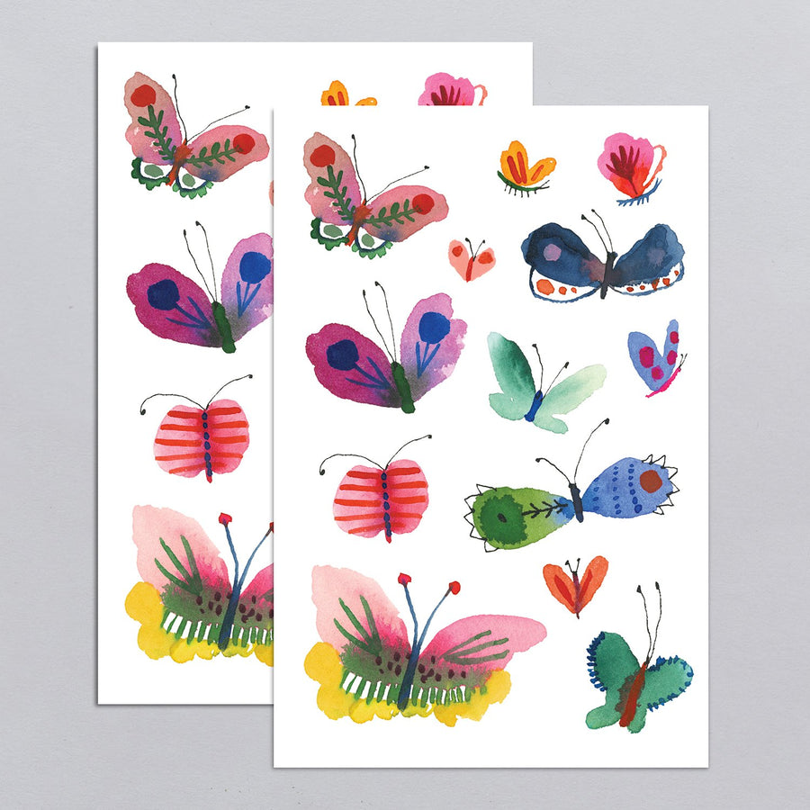 Butterfly Frenzy Tattoo Sheet, Set of 2