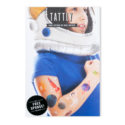 Space Explorer Tattoo Sheet, Set of 8
