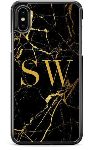 Black Custom Marble - iPhone and Samsung Case From The Gadget Cloud Phone Accessories