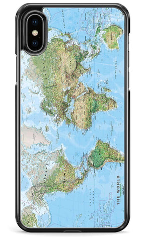Physical World Map - iPhone and Samsung Case From The Gadget Cloud Phone Accessories