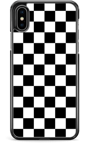 Black White Check - iPhone and Samsung Case From The Gadget Cloud Phone Accessories