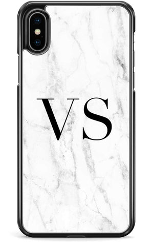 White Custom Marble - iPhone and Samsung Case From The Gadget Cloud Phone Accessories