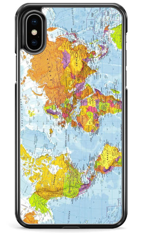 Political World Map - iPhone and Samsung Case From The Gadget Cloud Phone Accessories