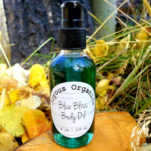 organic blue bliss body oil