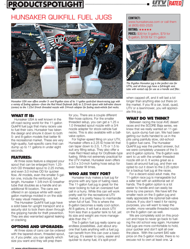 UTV Action Magazine - Product Spotlight