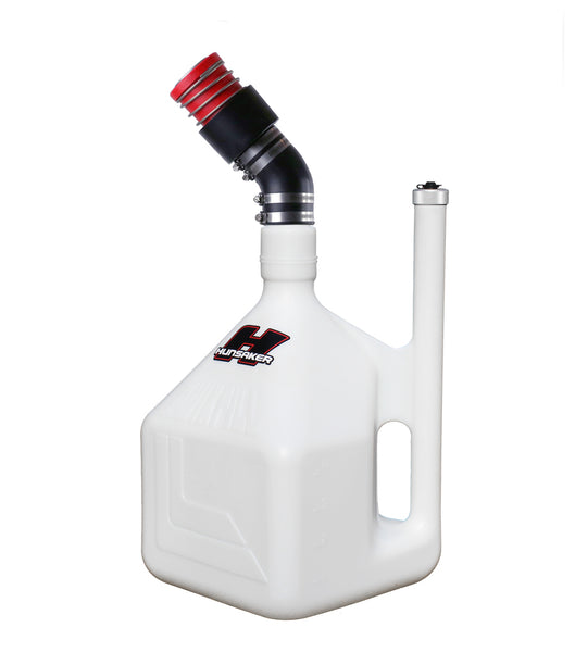 "Hunsaker 5 Gallon Dumpcan w/2.25"" RedHead Male Dry Break Probe on 45 degree elbow"