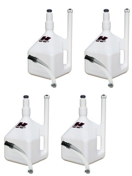 Limited time! (4-Pack Special) 5 GALLON QUIKFILL FUEL JUGS W/ HOSE KITS