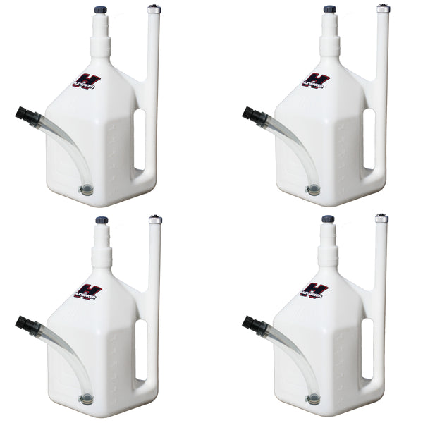 (4-Pack) 8 GALLON QUIKFILL FUEL JUGS W/ HOSE KITS