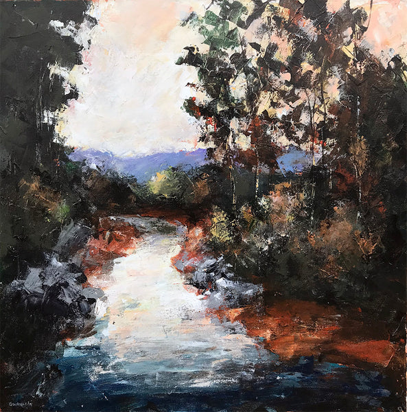 """Peaceful Stream""   24""x24"""