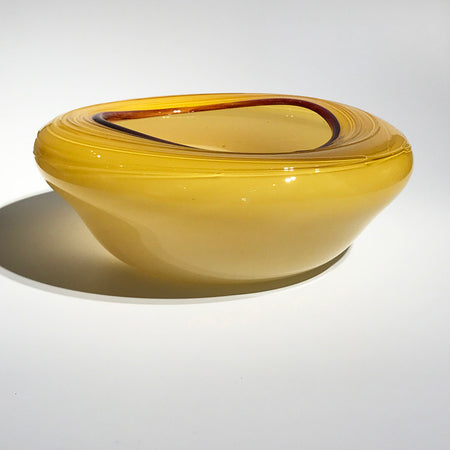 """Burgundy Escapade Bowl"" 5x3x5"