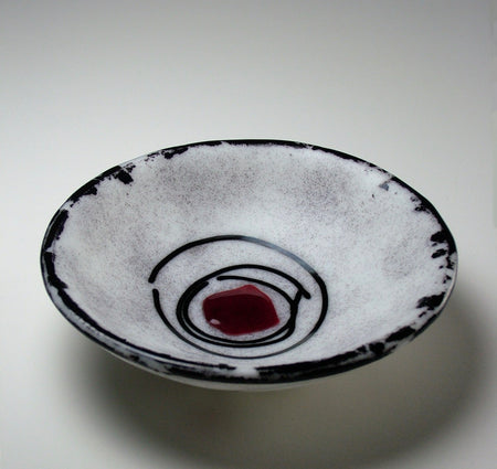 Oval Fused Glass Serving Platter - Trout Colorway
