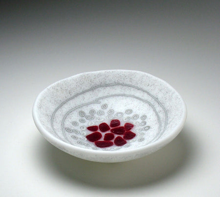 """Small Red & Amber Bowl"" 7x4"