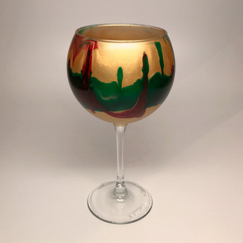 Wine Goblet - Gold, Emerald and Ruby - Made to Order