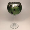 Wine Goblet - Silver, Chartreuse and Noir