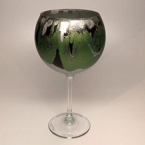 Wine Goblet - Silver, Chartreuse and Noir - Made to Order