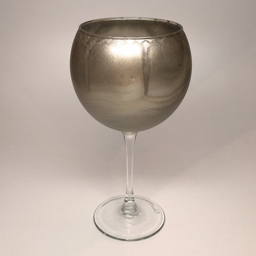 Wine Goblet - Brushed Silver and Gold