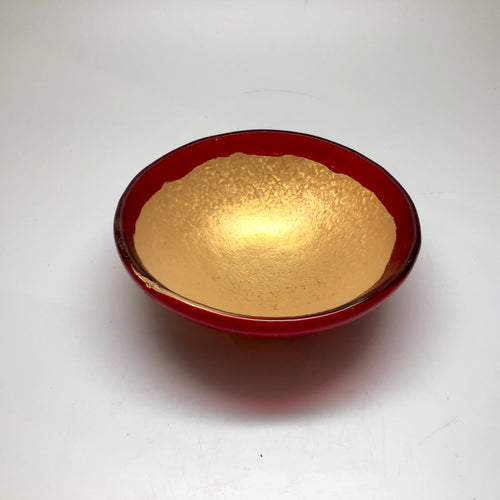 Small Wish Bowl in Red & Gold 5x2x5