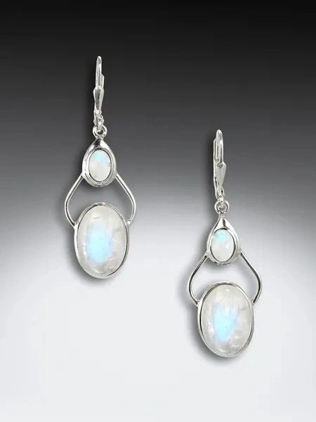 "Moonstone ""Hip"" earrings"