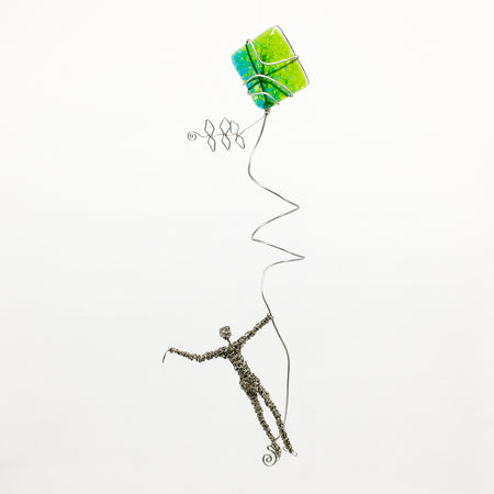 """Hanging by a Thread IV-Verde"" 19x13x10"
