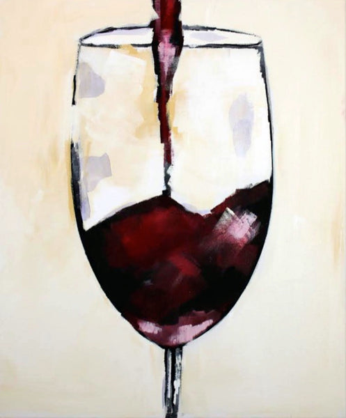 """Red Red Wine"" 20 x 24"