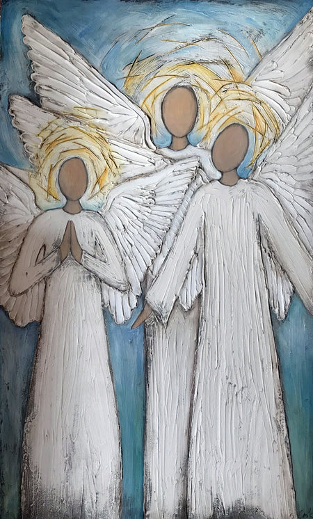 """Angel Trio"" 9x2x12"